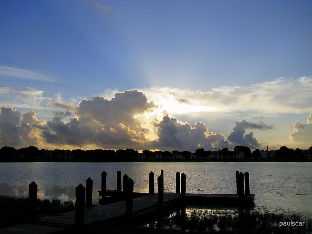 dock at sunrise by paulscar