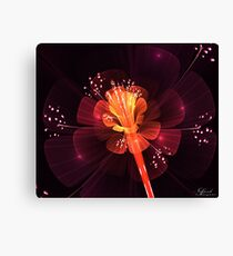Sunset Flower Canvas Print
