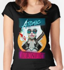 atomic blonde Women's Fitted Scoop T-Shirt
