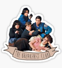 the breakfast club banner Sticker