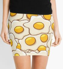 Fried Eggs Background Seamless 2 Mini Skirt