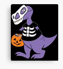 Trick-or-Treat Rex Canvas Print