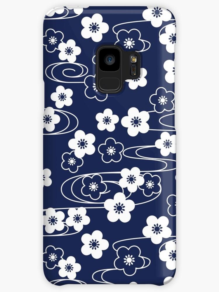 Japanese Blue Sakura Cherry Blossom Flowers by Natalia Linnik