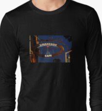 Iron Cafe Sign Long Sleeve T-Shirt
