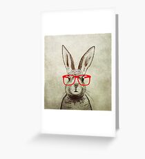 quirky bunny Greeting Card