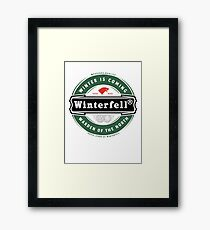 Winterfell Beer Framed Print