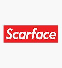 Scarface Supreme Parody Photographic Print