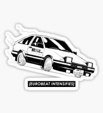 Eurobeat Intensifies AE86 Kansei Dorifto Initial D Car Sticker