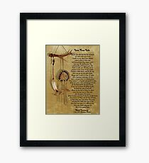 """Live Your Life""  by Chief Tecumseh dream catcher Framed Print"