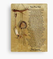 """Live Your Life""  by Chief Tecumseh dream catcher Metal Print"