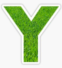 Y Grass Sticker