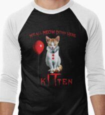 We All MEOW Down Here Clown Cat Kitten IT Halloween Funny T-Shirt
