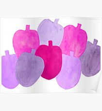 Apples in purple Poster