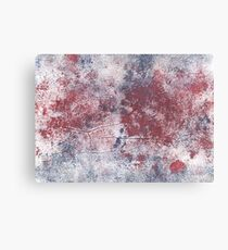 Christmas silver abstract watercolor background Canvas Print