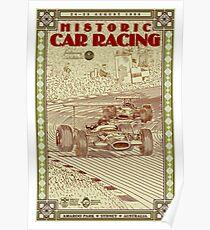 AMAROO PARK : Vintage 1996 Historic Auto Racing Print Poster