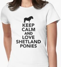 Keep calm and love Shetland Ponies T-Shirt