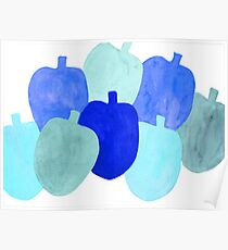 Apples in Blue Poster