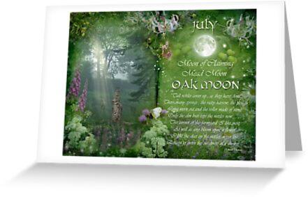 July : Oak Moon by Angie Latham