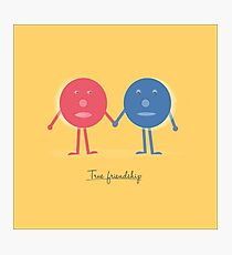 Friendship concept with cartoon character doodles Photographic Print