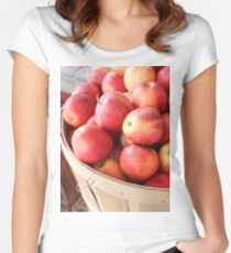 An apple a day Fitted Scoop T-Shirt
