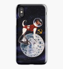 Crazy laika Dog in Moon iPhone Case/Skin