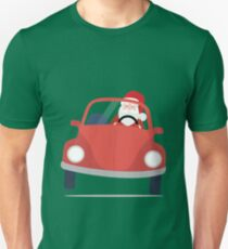 Santa Claus coming to you on his Car Sleigh T-Shirt