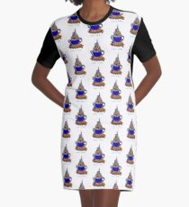 TEA TIME Graphic T-Shirt Dress
