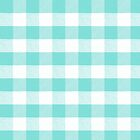 Robins Egg Blue gingham fabric pattern by coverinlove
