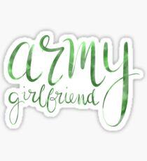 Army Girlfriend Sticker