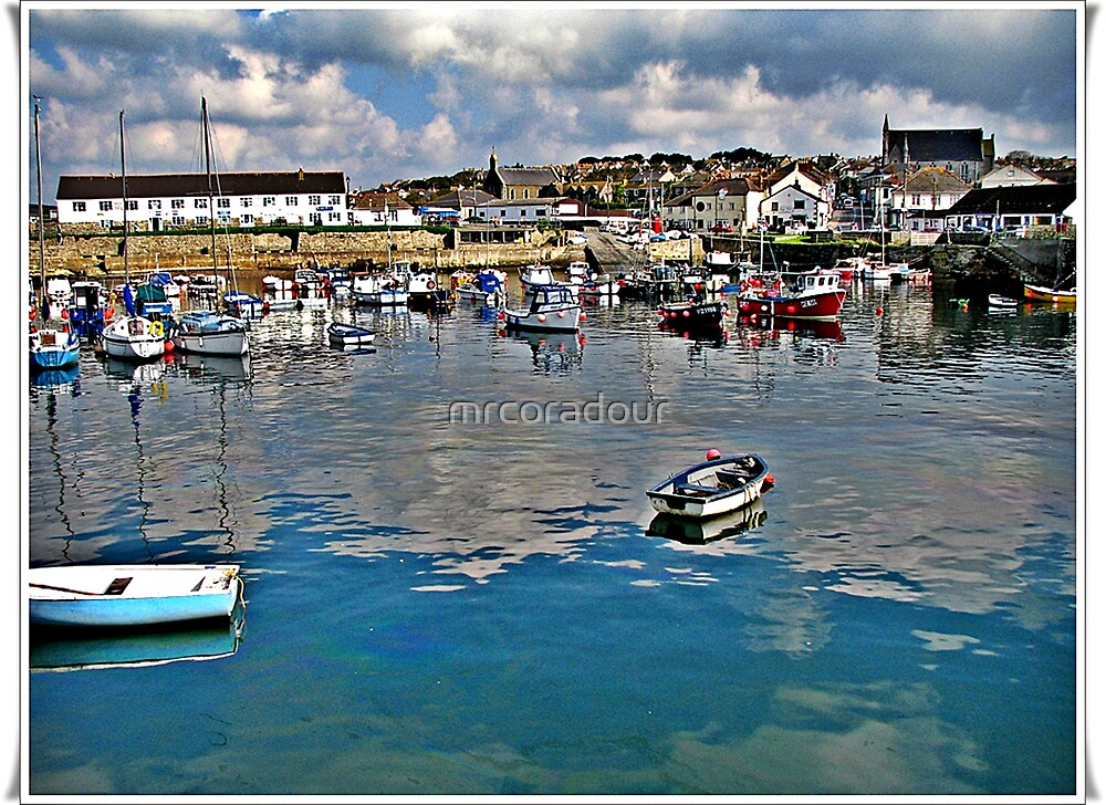 Porthleven Harbour, by Malcolm Chant