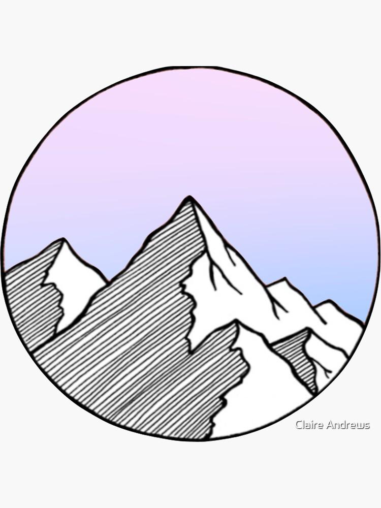 Montañas con gradiente de color fresco de Claireandrewss
