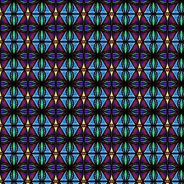 Blue and Purple Diamonds by BHDigitalArt