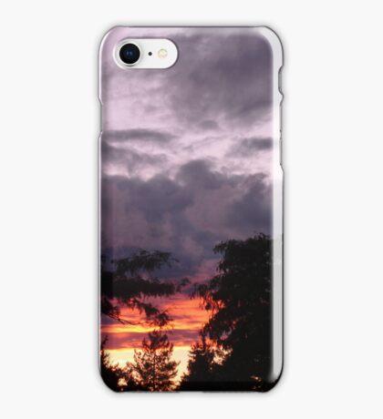 The sun was setting under the rain iPhone Case/Skin