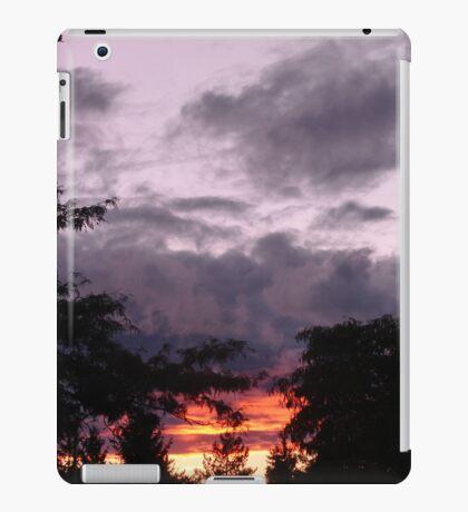 The sun was setting under the rain iPad Case/Skin