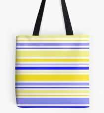 Blue and Yellow Stripes Tote Bag