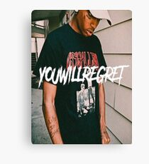 Ski Mask - You Will Regret Canvas Print