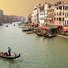 Grand canal Venice at sunset by Moshe Cohen