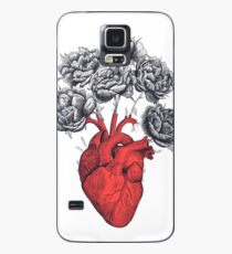 Heart with peonies Case/Skin for Samsung Galaxy