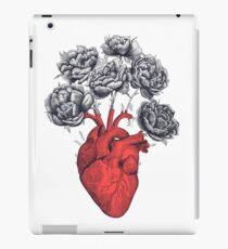 Heart with peonies iPad Case/Skin