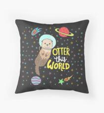 Otter diese Welt Dekokissen