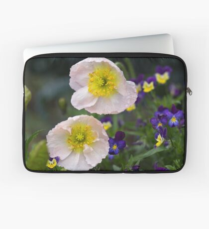 Poppies come in Twos Laptop Sleeve