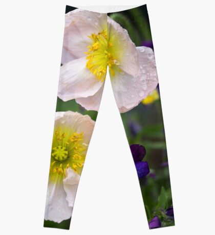 Poppies come in Twos Leggings