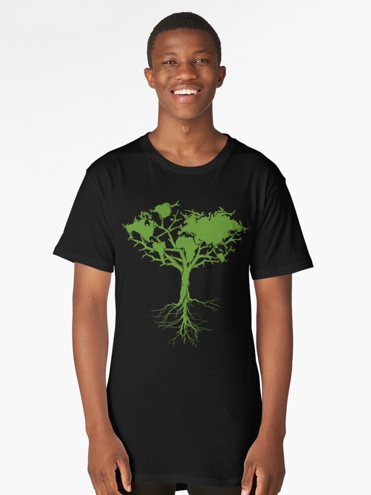 Earth Tree Classic Long T-Shirt Front