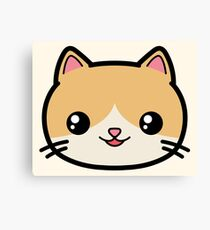 Kawaii Cat Cute Canvas Print