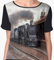 K Class at Little River Station, Victoria Women's Chiffon Top
