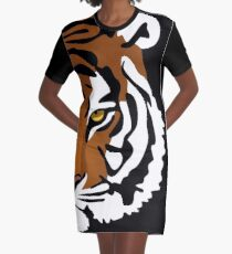 Tiger's Eye Graphic T-Shirt Dress