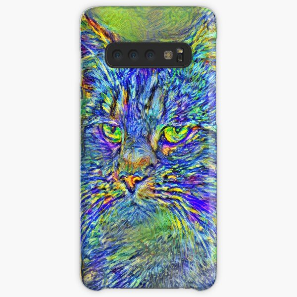 Artificial neural style Post-Impressionism cat Samsung Galaxy Snap Case