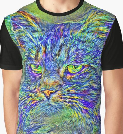 Artificial neural style Post-Impressionism cat Graphic T-Shirt