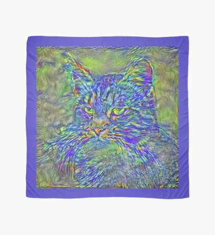 Artificial neural style Post-Impressionism cat Scarf