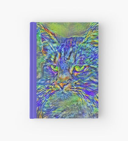 Artificial neural style Post-Impressionism cat Hardcover Journal